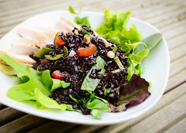 Black Rice Salad on thingswemake