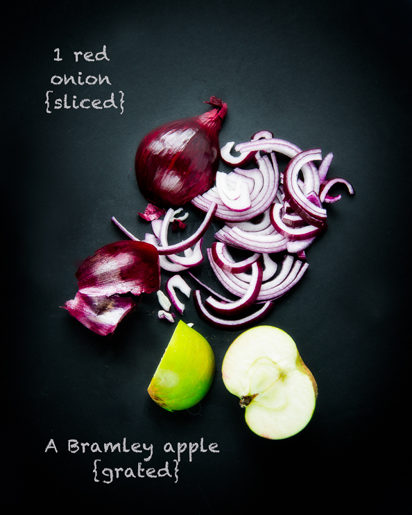 onion and apple