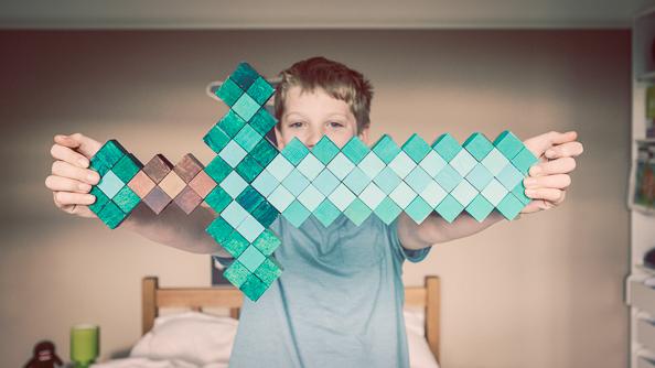 Minecraft Diamond Sword on thingswemake