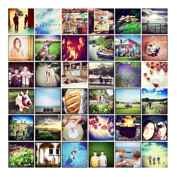 Instagram Mosaic Print