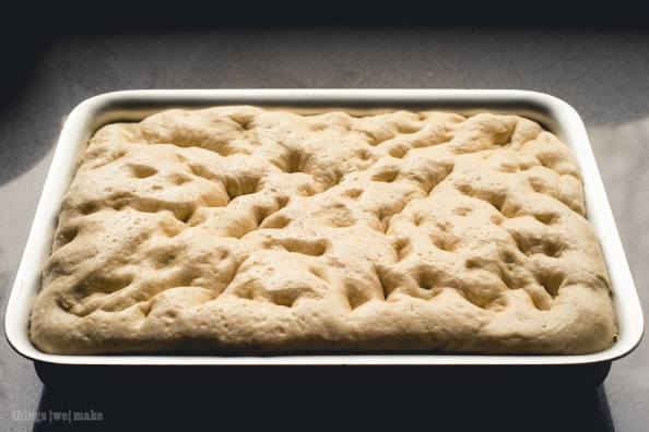 Focaccia rising on things{we}make